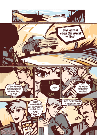 RAVEN KING comic page 9